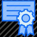 certificate, diploma, degree