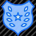 shield, police, badge, star