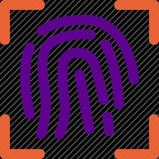 fingerprint, institution, state icon