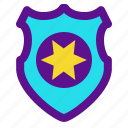 badge, institution, police, state icon