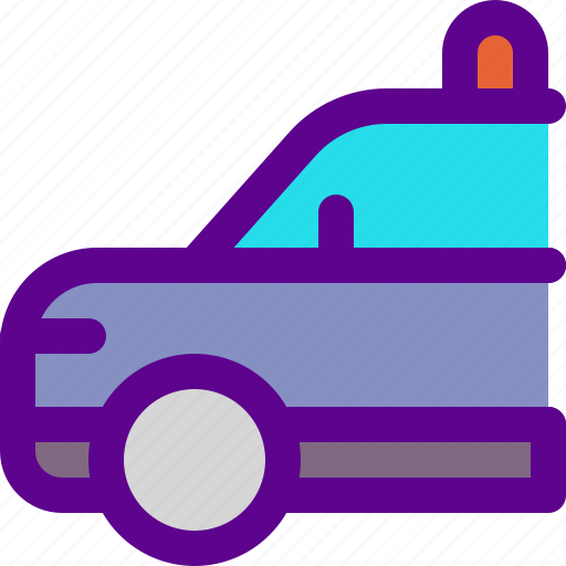 car, institution, police, state icon