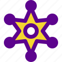 institution, police, star, state icon