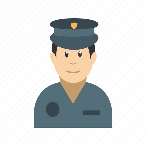 authority, hat, helmet, officer, police, policeman, uniform icon