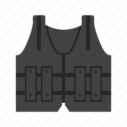 bullet, bulletproof, equipment, military, police, proof, vest icon