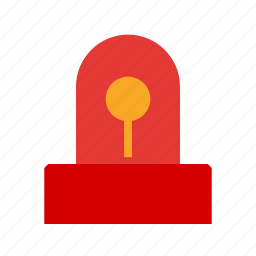 car, emergency, light, police, red, sign, siren icon