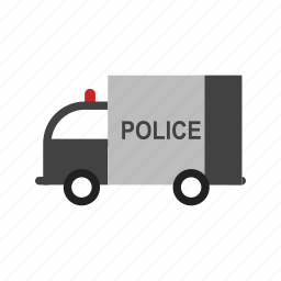 car, highway, police, security, truck, van, vehicle icon
