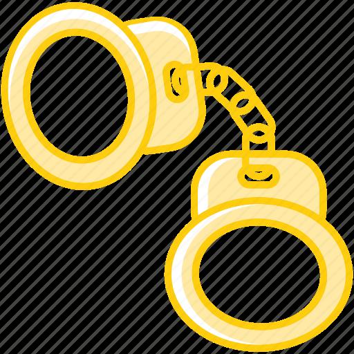 arrest, cuffs, hand, handcuffs, jail, justice, law icon