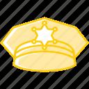 police gap, hat, law, police, gap icon