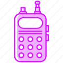 police, radio, service, set, speaker, work icon