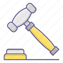 auction, gavel, hammer, law icon