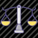 balance, crime, judge, law icon