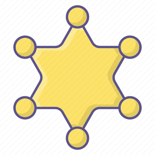 badge, police, star icon