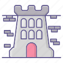 buidling, crime, jail, law, prison icon
