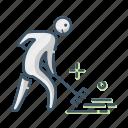 gardening, lawn, rake, tool