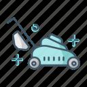 gardening, lawn, mower, tool