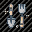 care, gardening, shovel, tool icon