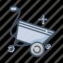 cart, gardening, tool, wheelbarrow icon