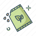 care, farming, gardening, seed icon