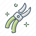care, gardening, secateurs, tool icon