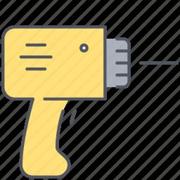 borer, construction, equipment, fix, repair, screw, tool icon