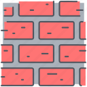 blockade, brick wall, bricks, construction, firewall, protection, wall icon