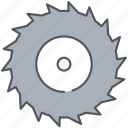 chain, chainsaw, cog, cogwheel, construction, cut, gear icon