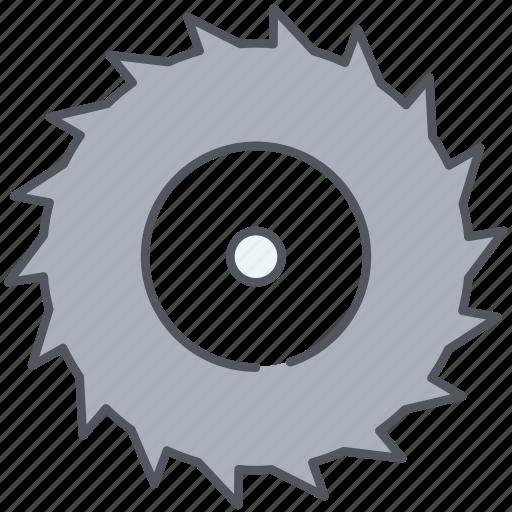 chain, chainsaw, cog, cogwheel, construction, cut, gear icon