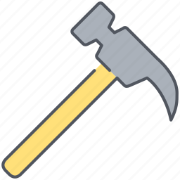construction, equipment, fix, hammer, housework, repair, tool icon