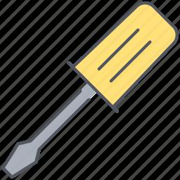 construction, equipment, fix, repair, screw, screwdriver, tool icon