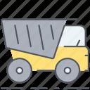 truck, tip-up truck, transportation, vehicle