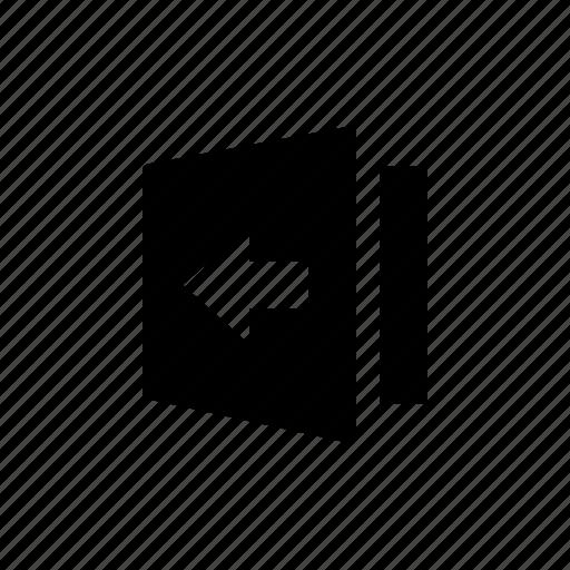 flip, layout, left, object icon