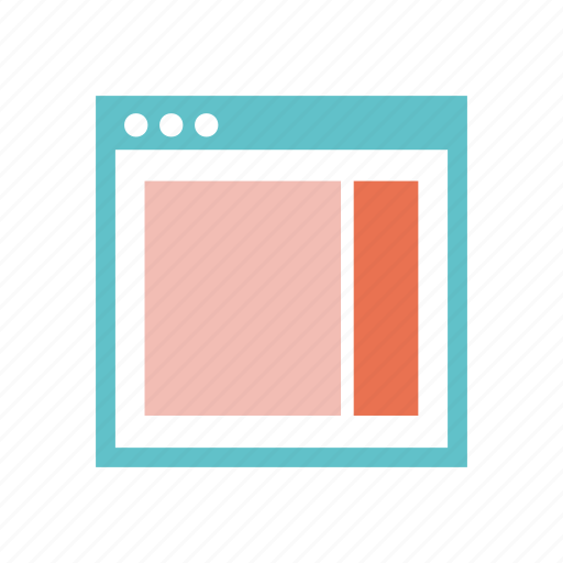 layout, right, sidebar, web, web page, website, wireframe icon