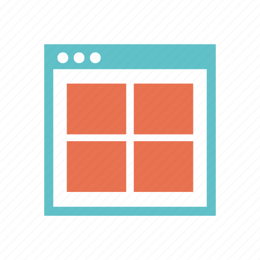 grid, layout, prototyping, web, web page, website, wireframe icon