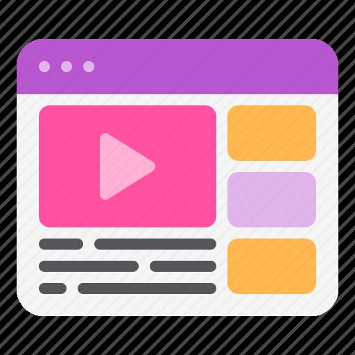 interface, layout, prototype, user, web, wireframe icon