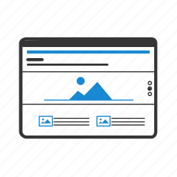 columns, design, layout, page, parallax, website, wireframe icon