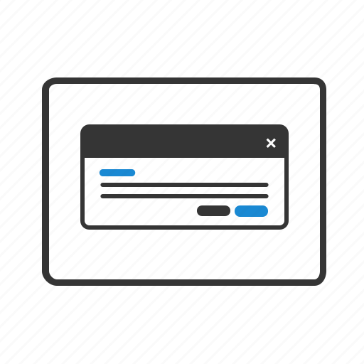 design, dialog, layout, popup, website, windows, wireframe icon