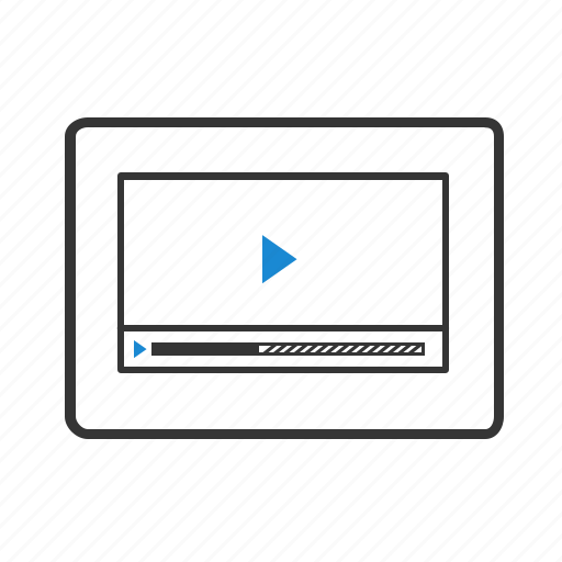 grid, layout, player, website, window, wireframe, youtube icon