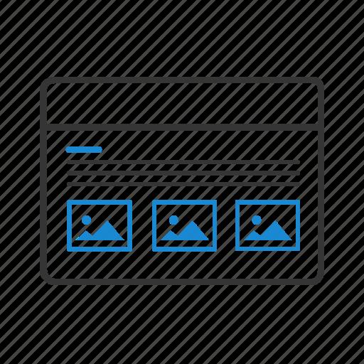columns, design, grid, layout, website, wireframe icon