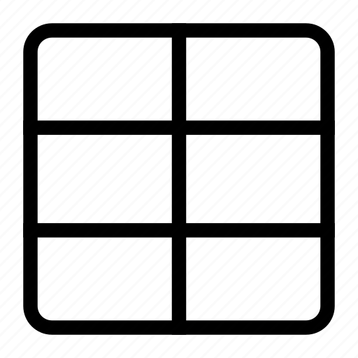 grid, grid layout, grid style, grid system, grid template icon