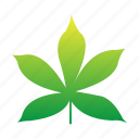 green, leaf, plants, set, summer, tropical, yellow icon