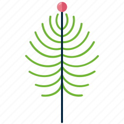 forest, leaf, nature, needles, park, shape, tree icon