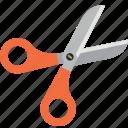 book, cut, learn, learning, scissors, study icon