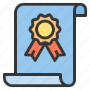 certificate, education, learning, teacher icon
