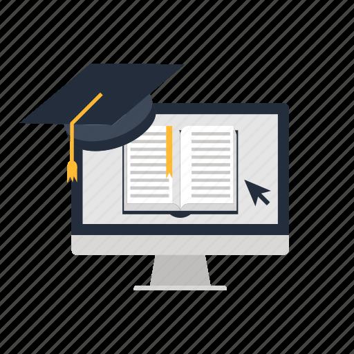 academy, e-elarning, education, graduation, learning, online, science icon