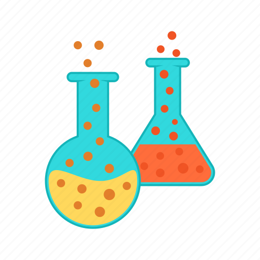 chemistry, education, experiment, lab, laboratory, test, tubes icon