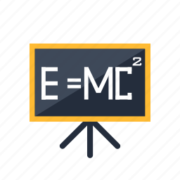blackboard, chalkboard, education, formula, presentation, school icon