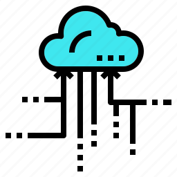 cloud, data, information, organized, storate icon