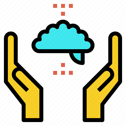 brain, craft, doing, hand, learning icon