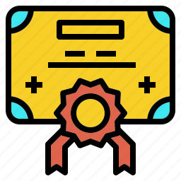 award, certificate, degree, license icon