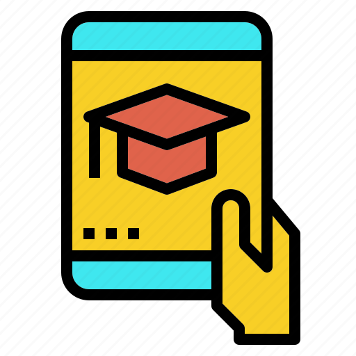 course, degree, learning, mobile, study, university icon
